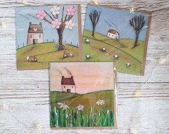 Country Cottage Greeting Card Set