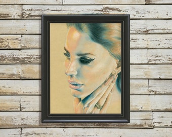 Lana Del Rey portrait // Print