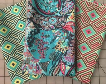 Amy Butler Glow cotton fabric collection green orange blue half yard bundle from shereesalchemy
