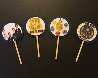 Odd Squad | Secret Agent Birthday Party Cupcake Toppers Picks - 24