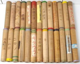 30 Japanese Industrial Wood Spools, wood bobbins