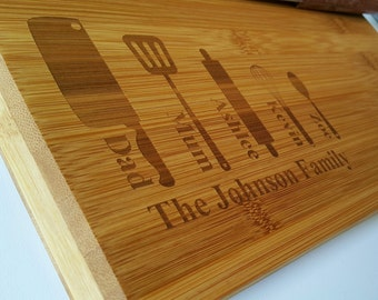 Personalized wooden chopping board, wedding gift, house-warming, father's day gift, mother's day, birthday