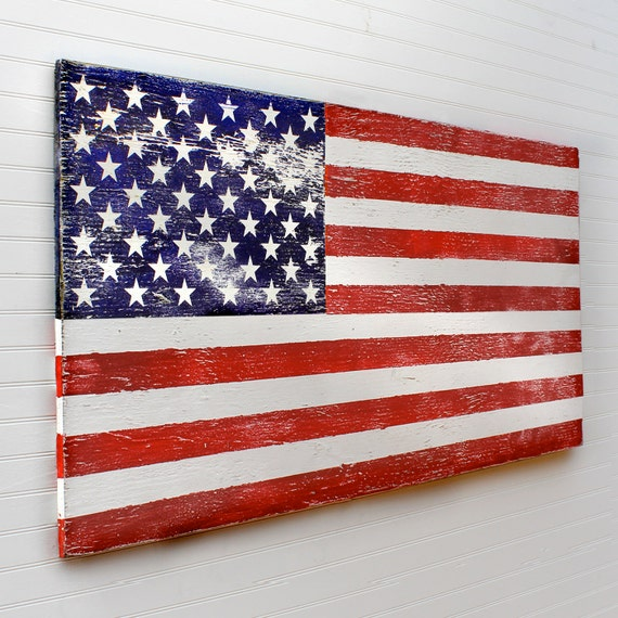 Wooden American Flag Rustic US Flag Military Gift Rustic Flag
