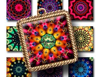 BALANCED,1x1 Square,Printable Digital Image,Digital Collage,Mandala,Magnets,Gift Tags,Scrabble Tiles,Yoga, Meditation