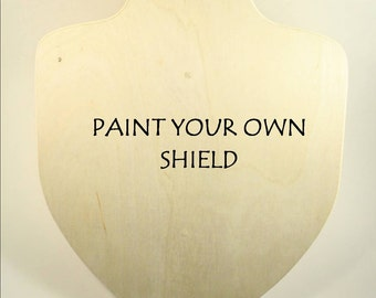 Wooden shield - PAINT your own SHIELD-  Waldorf Toys - Pretend play - Knight Toys- Knight costume