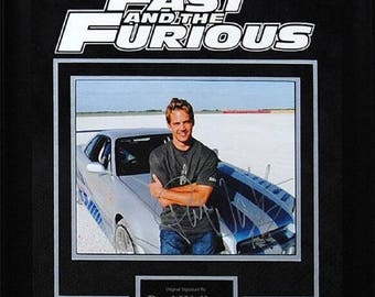 The Fast & the Furious - Signed by Paul Walker - Framed Artist Series