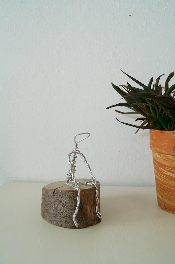 Draht Mann Skulptur Draht-Skulptur Baum-Skulptur Denker Art