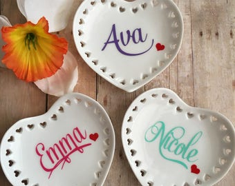 Personalized Ring Dish, Personalized Ring Holder Dish, Gift For Bridal Showers, Bridesmaid Gift, Thank-You Gift, All Occasion Gift