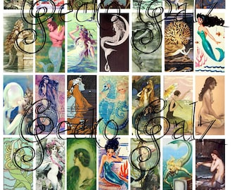 Little Mermaids Domino Collage Sheet