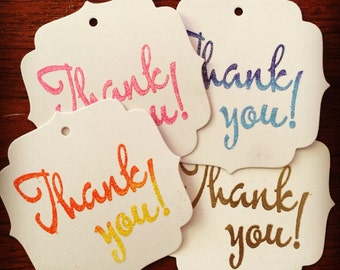 4 Thank you tags