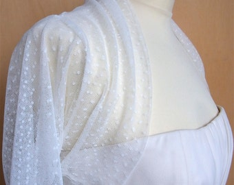 bridal bolero tulle with dots