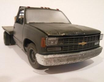 Chevy Truck,flatbed,Classicwrecks,Wrecker,JunkerModel,Junker,Scale Model,OOAK