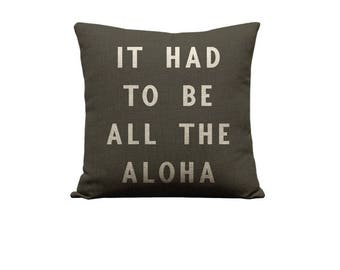 18x18in All the Aloha Pillow Cover - Dark Grey