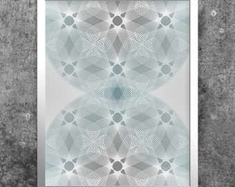 Printable Wall Art, Teal & Grey, Abstract Instant Download, Modern Minimalist Decor, Digital Print, Geometric Line Art, Contemporary Art
