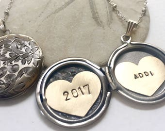 Personalized Graduation gift, 2018 graduate, name necklace, Heart locket Personalized jewelry, Personalized name necklace