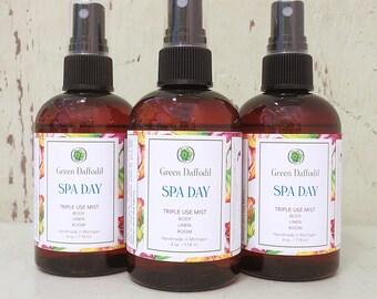 Spa Day Room Spray Mist - Green Daffodil - VEGAN - 4oz - RM