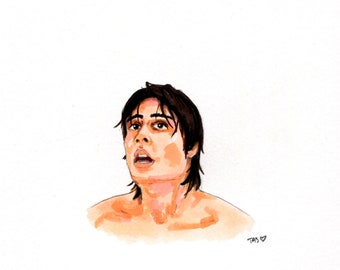 Original Drawing of Peter Barton as Doug From Friday the 13th Part 4 The Final Chapter