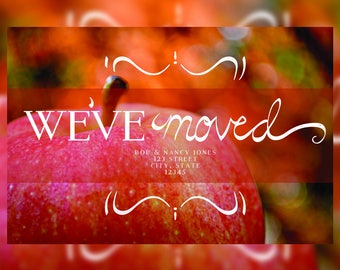 CUSTOMIZABLE Moving Notice We've Moved We're Moving Autumn Fall Announcement
