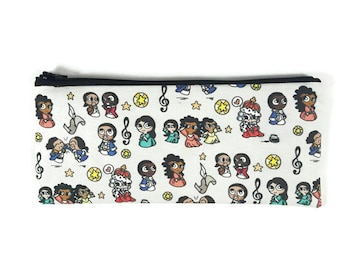 Hamilton Pencil Case, Pencil Pouch, Alexander Hamilton Zipper Pouch, Cosmetic Bag, Makeup Bag, Tampon Case, Pencil Pouch