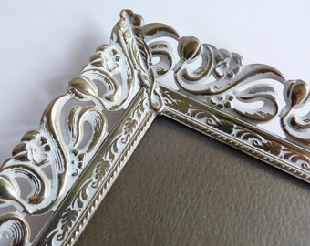 Vintage Flocked Back Stamped Brass Picture Photo Frame