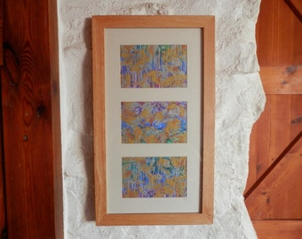 Wall Art, Original Artwork, Rainbow Artwork, Triptych