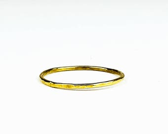 Alexia-Hammered stacking ring