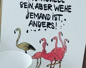 Art Print Picture Flamingo