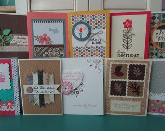 8 Handmade Greeting Card Set Assorted Handmade Cards Variety