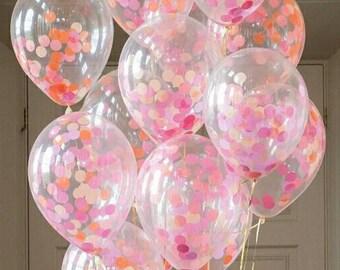 Flamingo Confetti Balloons, Flamingo Party, Confetti Balloons, Pretty Flamingo Colours