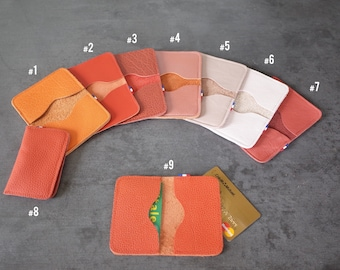 CARD cases - Double - Orange/pink