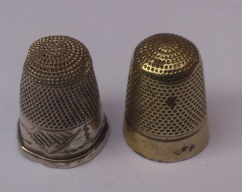 Two vintage thimbles