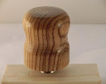 Bottle stopper in zebrano wood