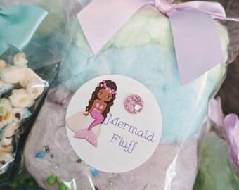 Mermaid Fluff Cotton candy 6 per order