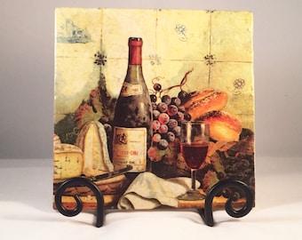 Wine Bottle Cheese Board Trivet (hot pad)