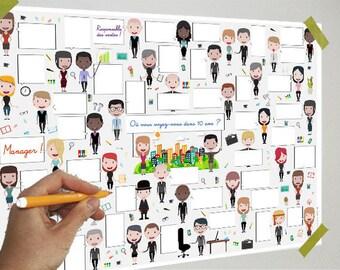 Poster Company - 40 bubbles - Guestbook, bubbles, messages, signatures, gift, poster, souvenir, partyint