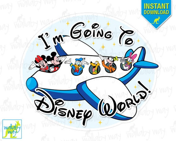 i m going to disney world mickey airplane printable iron rh etsy com disney world clipart 2017 disney world clipart 2016