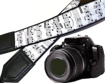 InTepro Music camera strap. Black and white Camera strap. DSLR / SLR Camera Strap. Camera accessories.