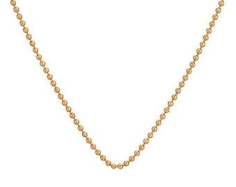 MOTHERS DAY SALE 14k gold ball chain necklace