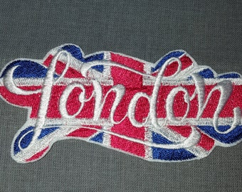London Union Jack Travel Vaction Iron on No Sew Embroidered Patch Applique
