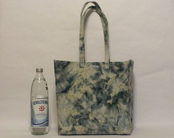One of a Kind Market Line Bag in print Batik Blue Water