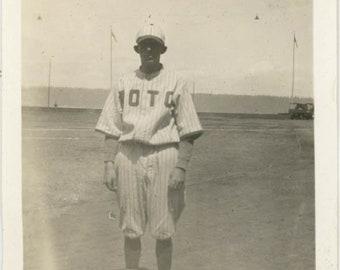 vintage photo 1915 BAseball Uniform Guy OTO ROTC Jersey league