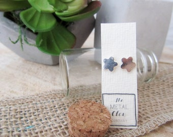 Abstract flower SMALL stud earrings