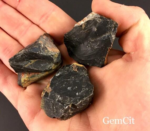 Natural Black Onyx Crystals Stones Raw