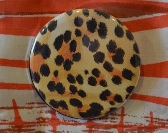 Cheetah Print Compact Mirror