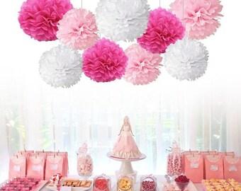 Pom Pom Decorations Set of 9