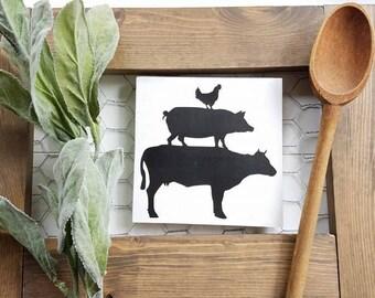 Pig Kitchen Decor   Etsy