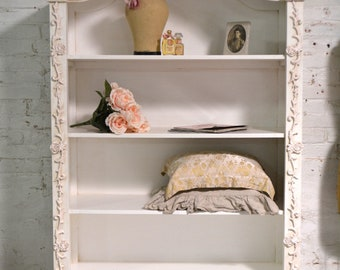 Painted Cottage Farmhouse Bookcase / China Cabinet BC30