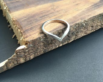 Silver Ring Triangle