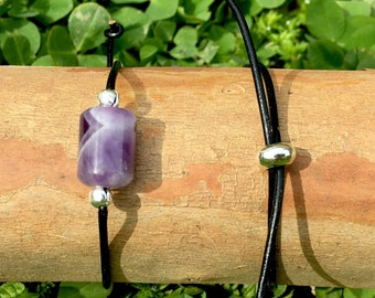 Adjustable Amethyst Bracelet