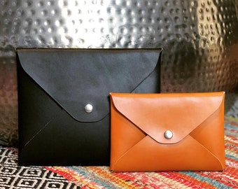 Large Envelope Pouch - English Bridle Leather - Pouches - Accessories - Clutches